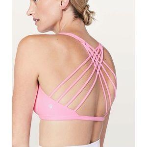 New Lululemon Free to Be Wild Bra Pink